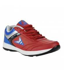 Vostro Red Blue Sports Shoes for Men - VSS0211